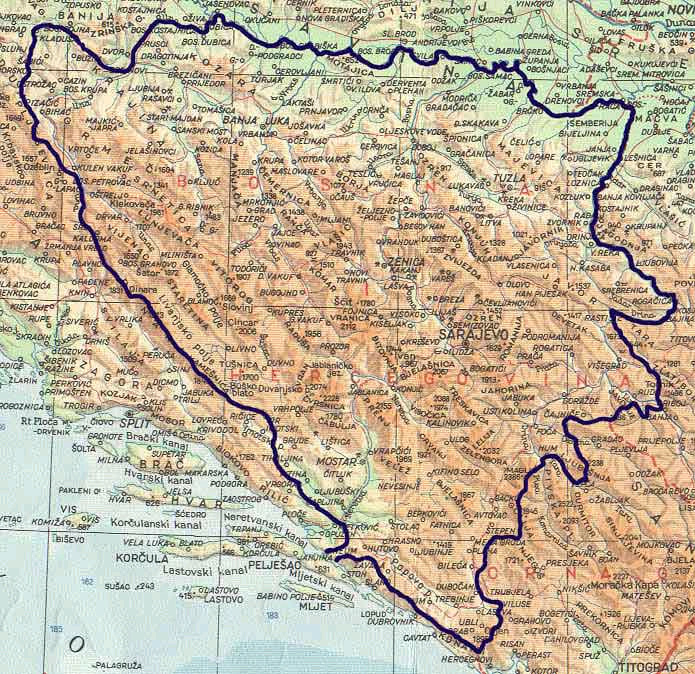 karta bih First of All Yugoslav States: BiH Demarcated and Established the  karta bih