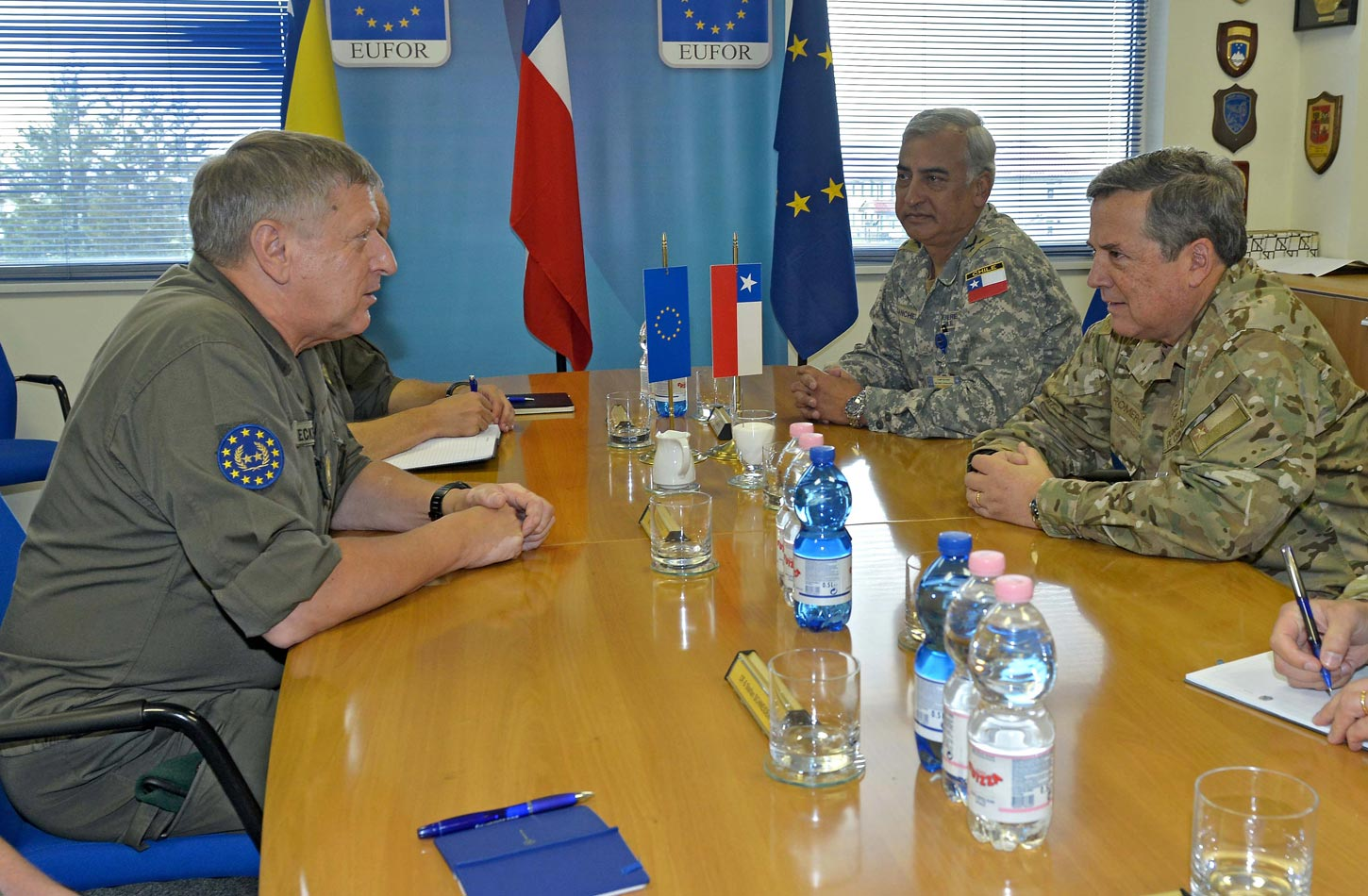 Chilean Armed Forces Chief of Joint Staff visits EUFOR in