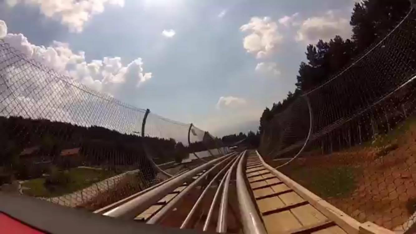 Roller Coaster Lever : Take a look at the roller coaster ride over sarajevo